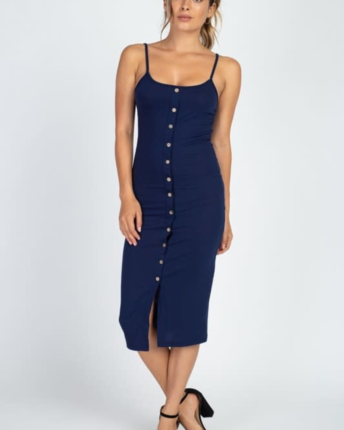 Totally Snapped Bodycon Dress Navy