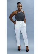 Blown Away Linen Pants White