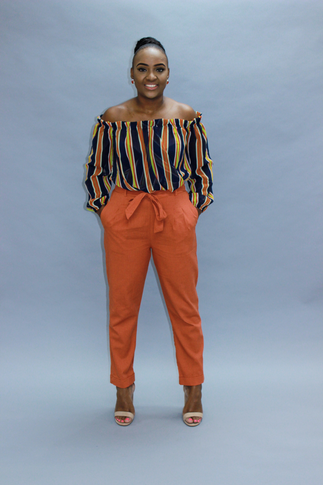 Blown Away Linen Pants Rust