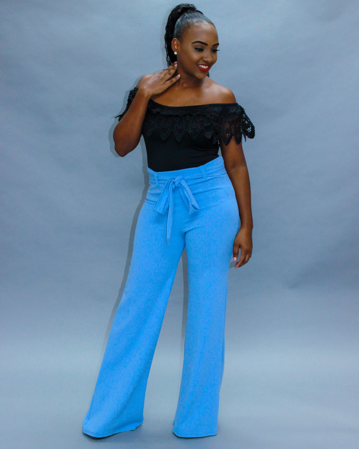 Sky High Pants Light Blue