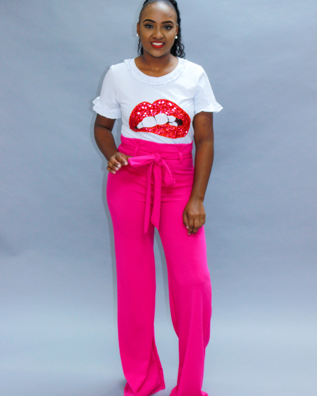 Sky High Pants Fuchsia