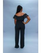 Check It Out Buckle Pants Black
