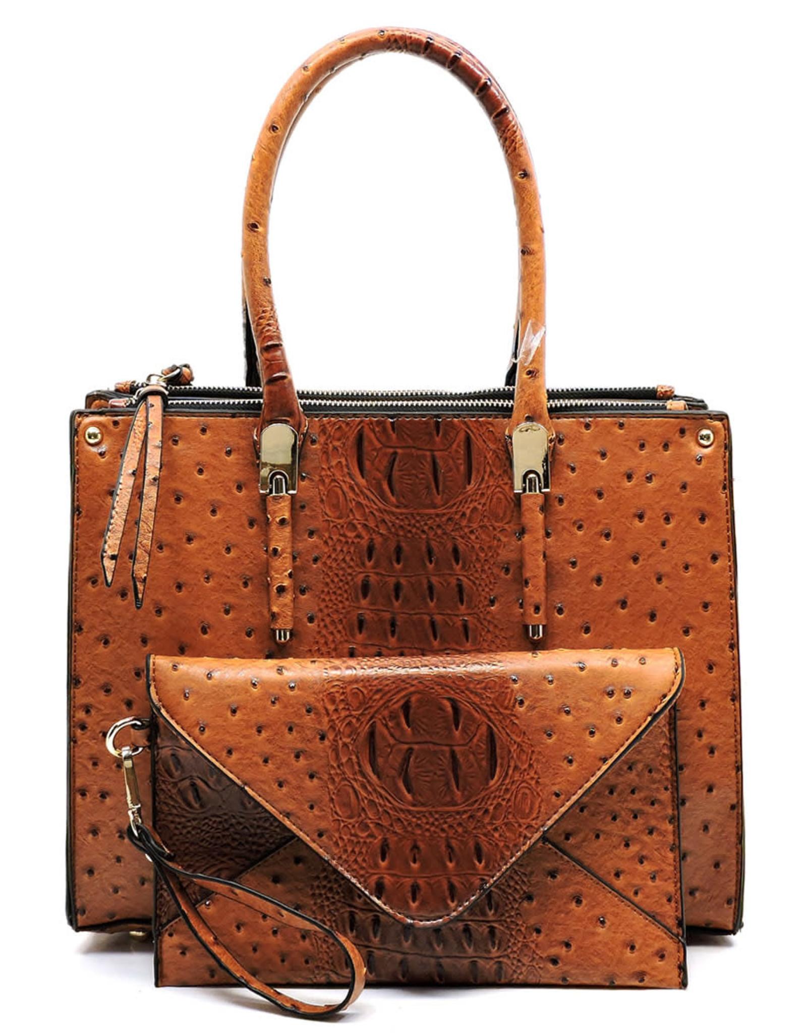Rockin Croc Handbag + Clutch Set