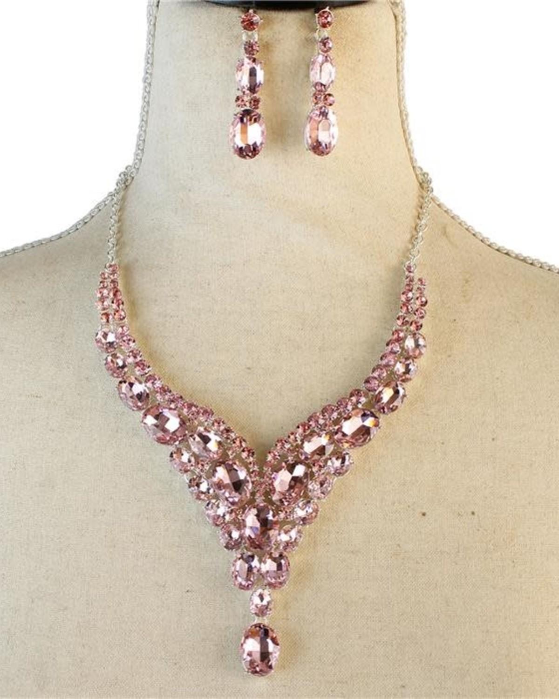 Drip Drop Jewel Necklace Set