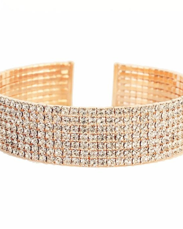 Cuff Love Rhinestone Bracelet