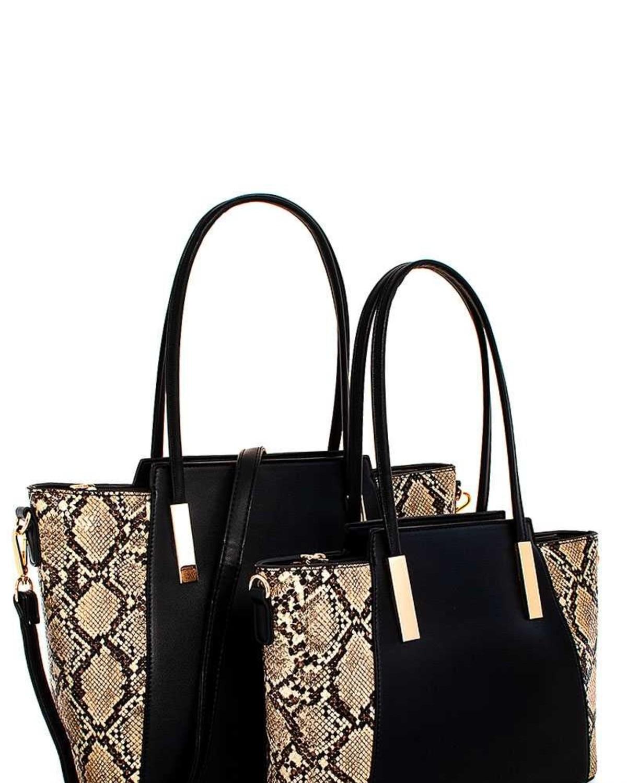 Creep Snakeskin 2 N 1 Handbag Set