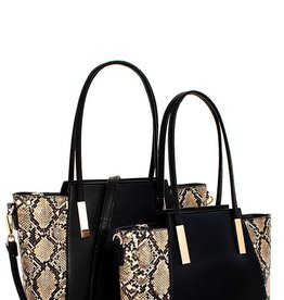 Creep Snakeskin 2 N 1 Handbag Set