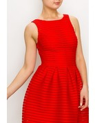 All By Myself Mesh Fit & Flare Dress