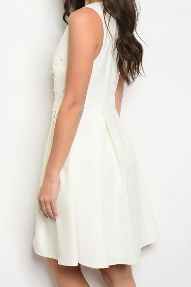 So Polished Pearl Flare Dress Ivory