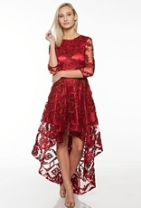 On The Edge Hi Lo Dress Burgundy