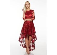 On The Edge Hi Lo Dress Burgundy