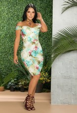 You're My Lady Floral Midi Dress