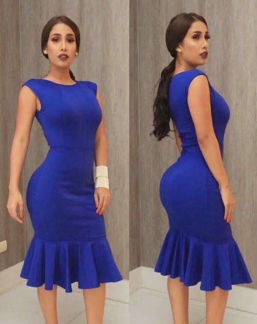 Award Wining Mermaid Midi Dress Royal Blue