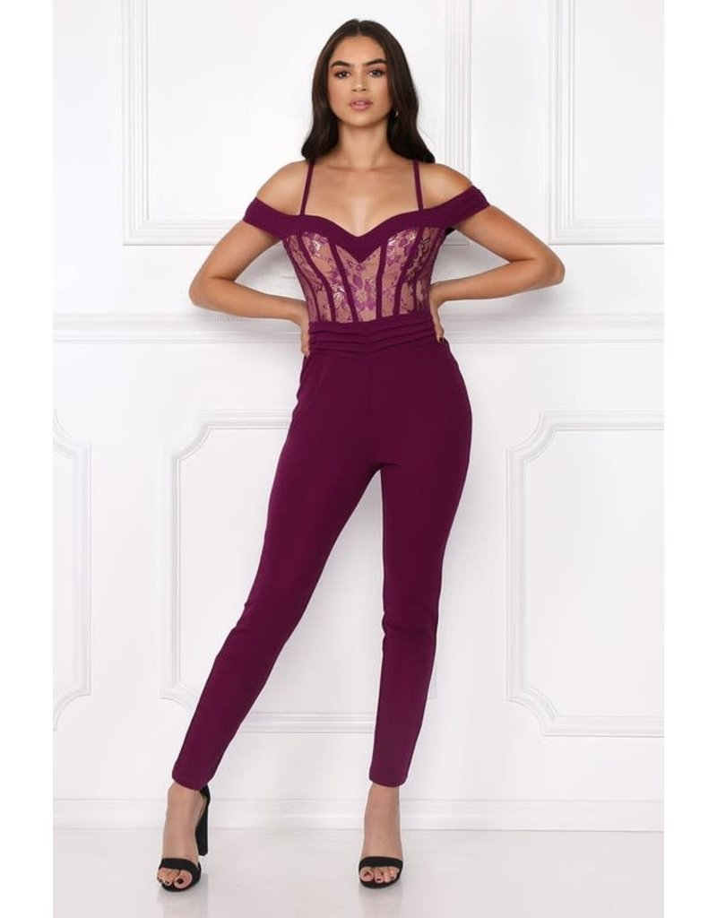 Broken Hearted Lace Jumpsuit