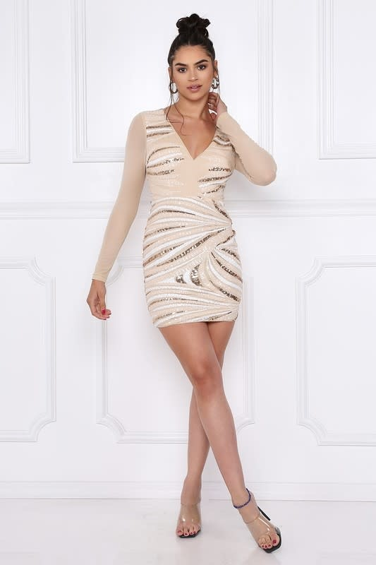 Simple Irresistible Sequin Dress