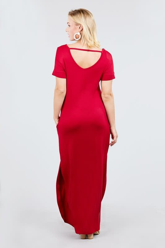 Easy Going Maxi Dress Bold Red