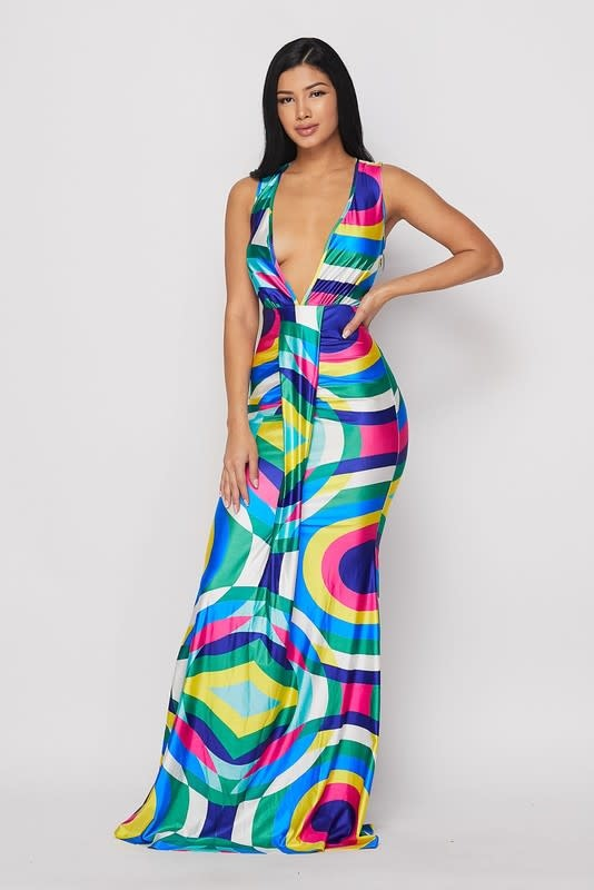 Kalediascope Maxi Dress