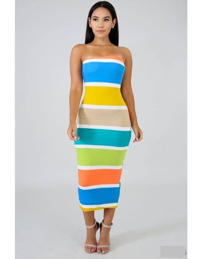 Over The Rainbow Color Block Dress