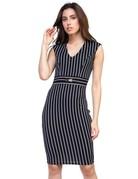 Stripes On Me Belted Dress