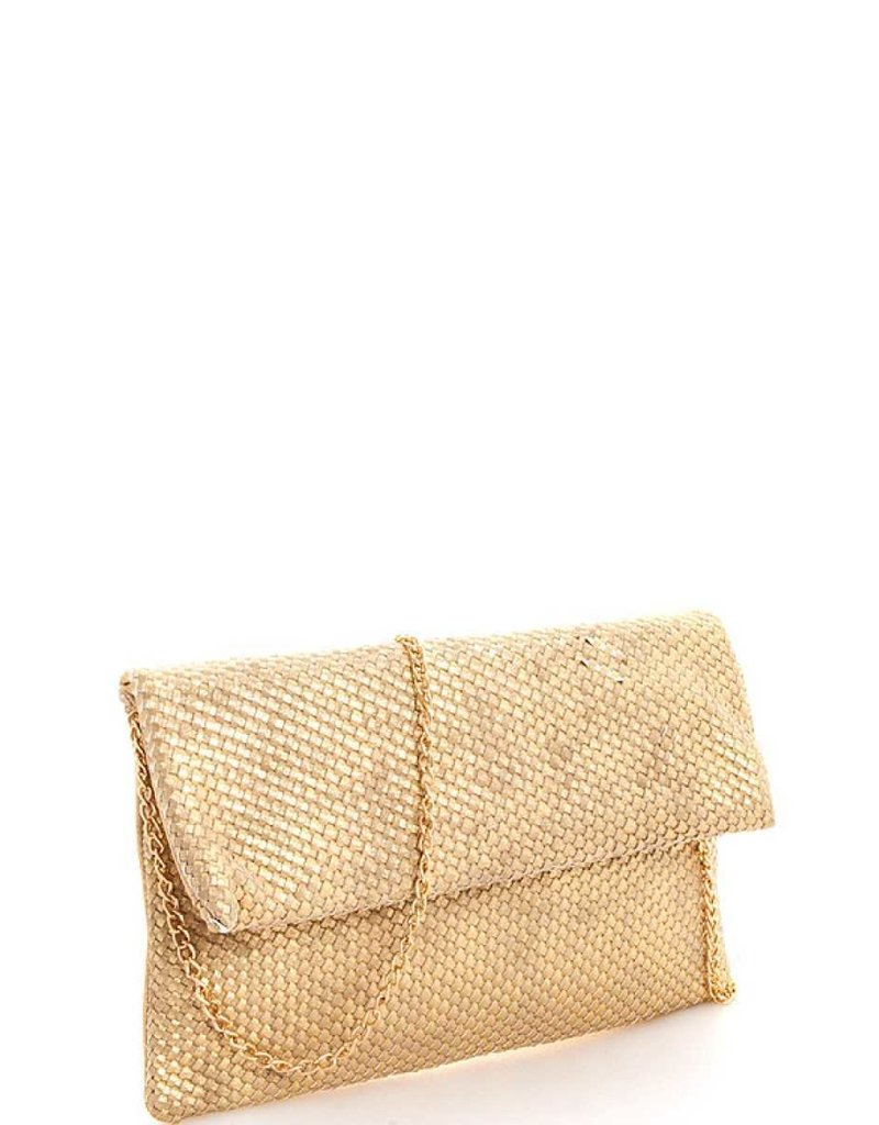 Let's Go Out Woven Clutch