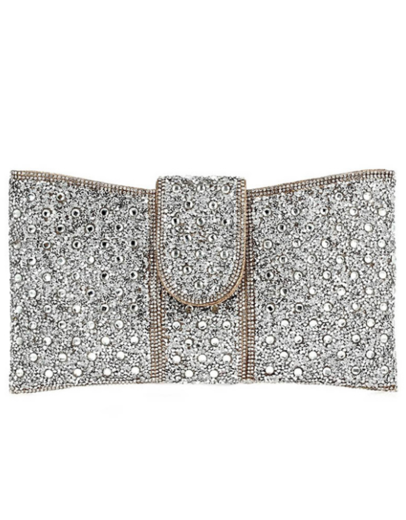 Another Level Rhinestone Clutch