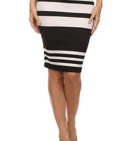 Get Going Striped Pencil Skirt