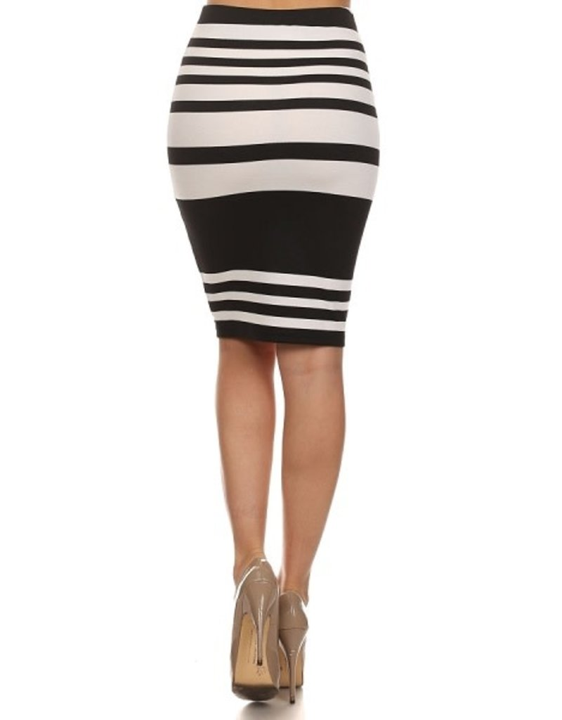 Get Going Striped Pencil Skirt