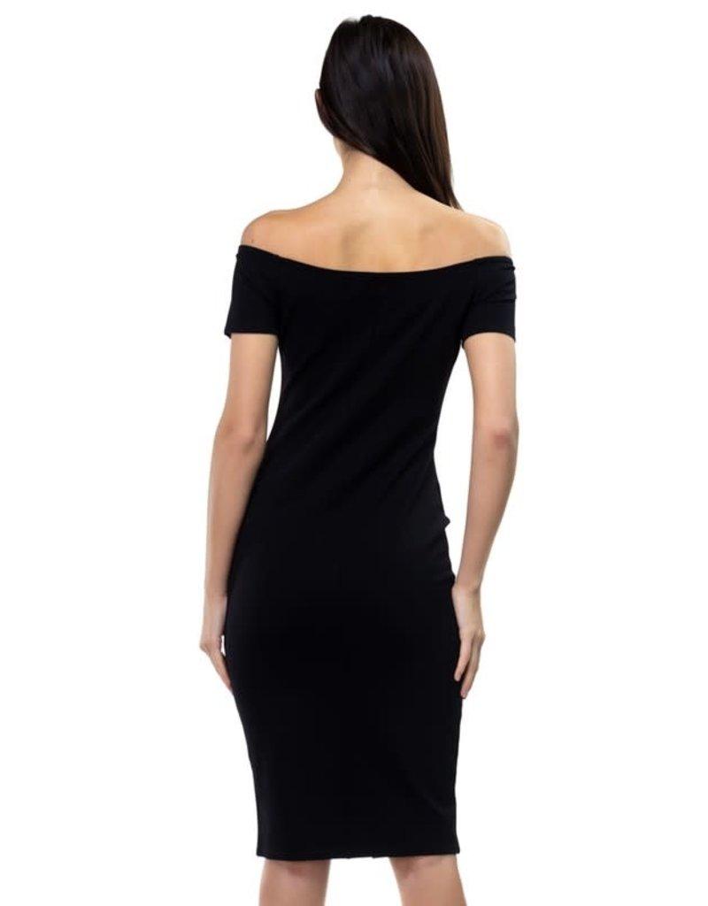 Imagine That Zippered Dress Black