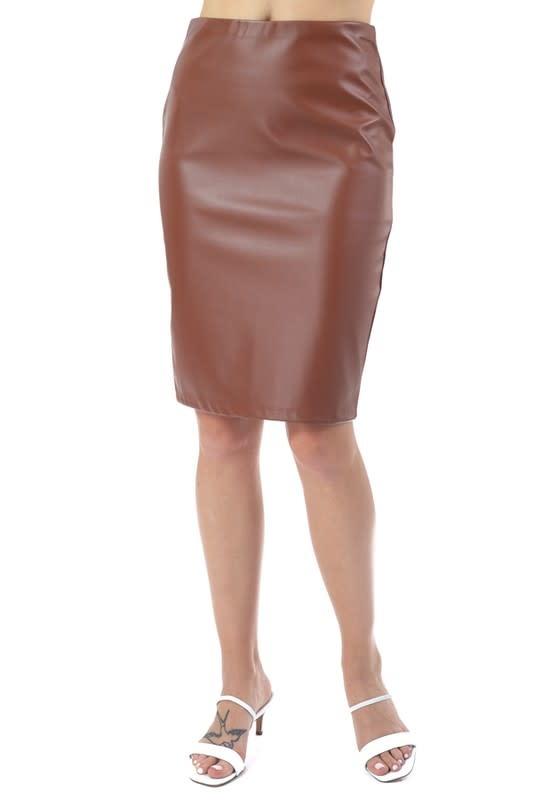 Bad Behavior Faux Leather Skirt