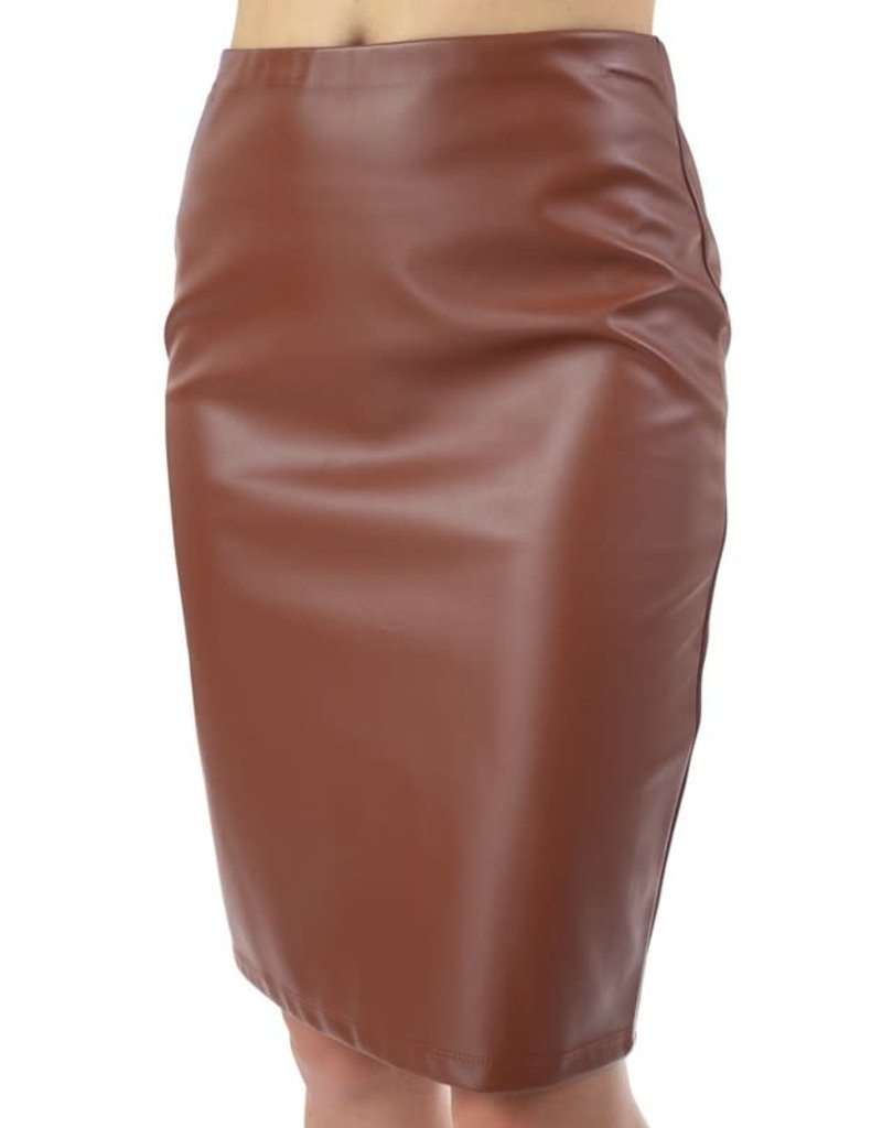 Bad Behavior Faux Leather Skirt