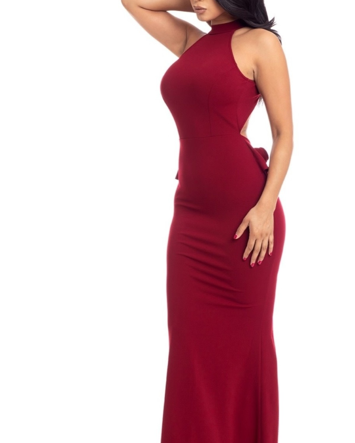 Out For The Evening Maxi Dress Burgundy