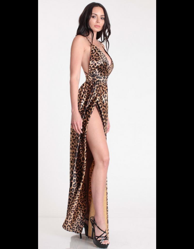 Hear Me Roar Leopard Maxi Dress