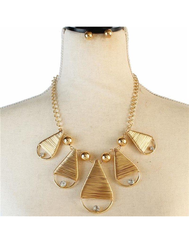 Cinco Tears Necklace Set