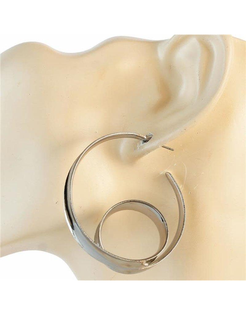 Twist n Swirl Hoop Earrings