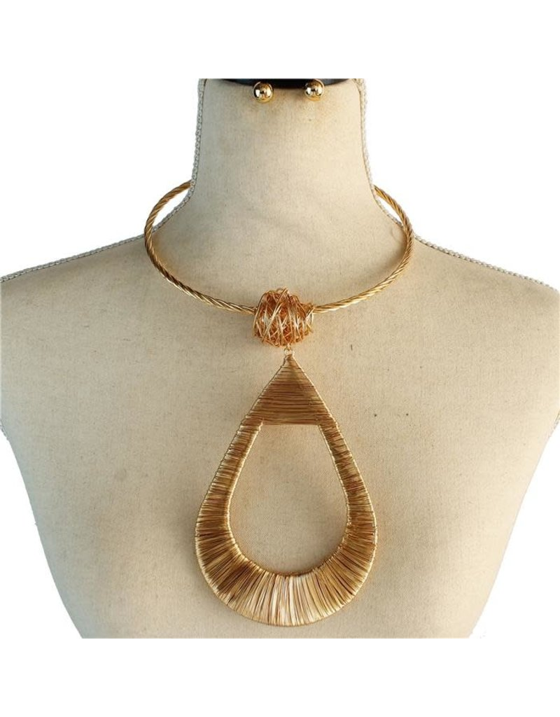 Big Drop Necklace Set