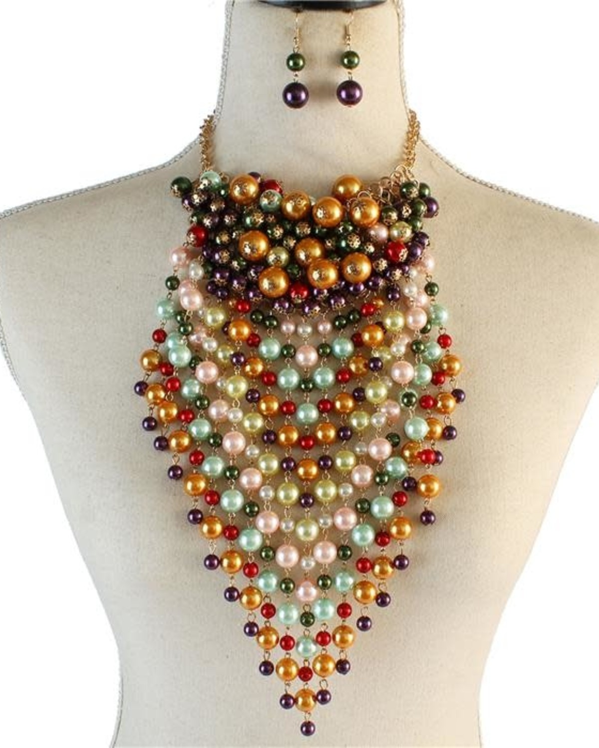 Set The Trend Pearl Necklace Set