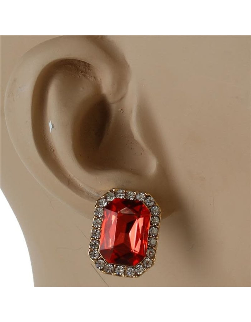 A Square Deal Knob Earrings