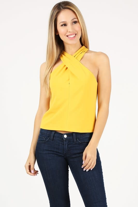 City Girl Crossover Top Yellow