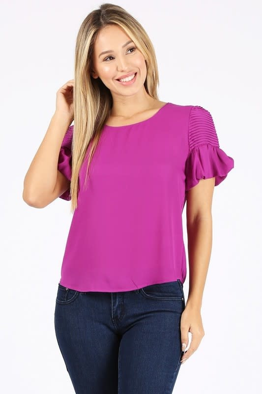 Always Faithful Ruffled Top