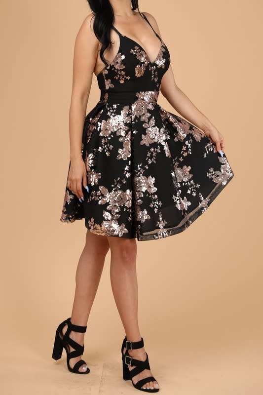 Glamour Up Sequin Dress
