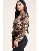 Spot On Leopard Tie Wrap Top