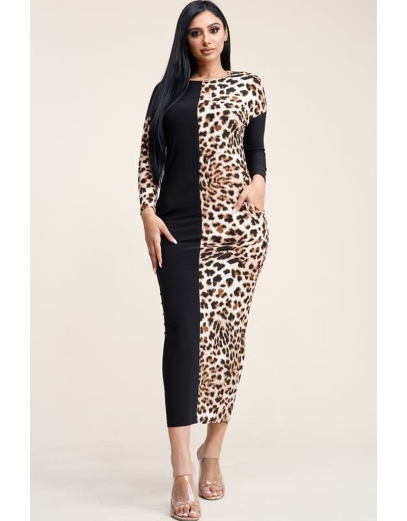 Spotted Or Not Leopard Maxi Dress