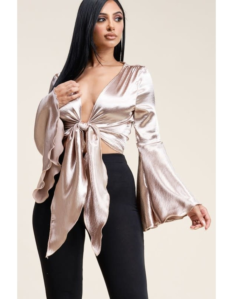 Major Hit Bell Sleeve Top
