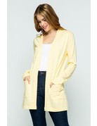 Zinnia Gold Open Front Knit Cardigan