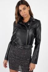 Biker Chic Faux Leather Jacket