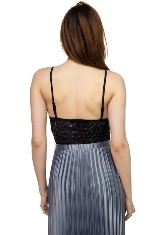 Lace Me Up Bodysuit Black