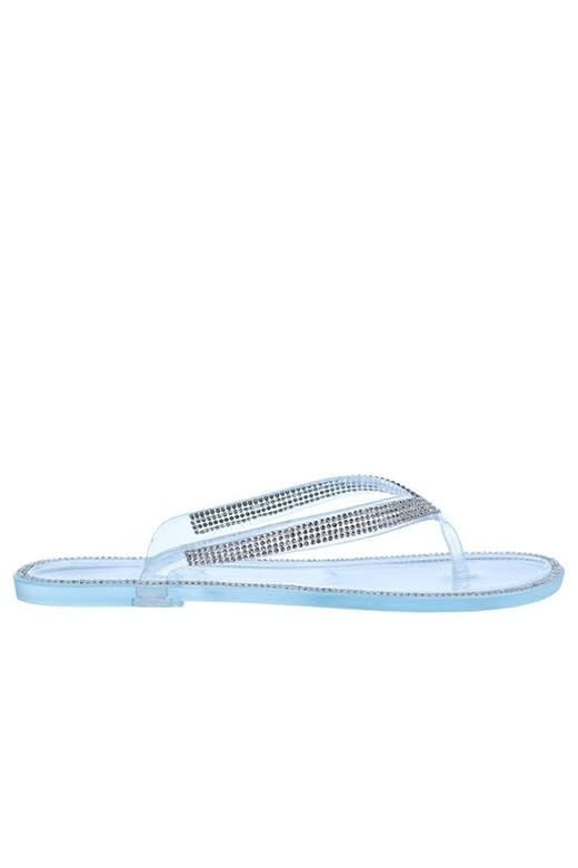 Feeling Lost Jelly Sandals Clear