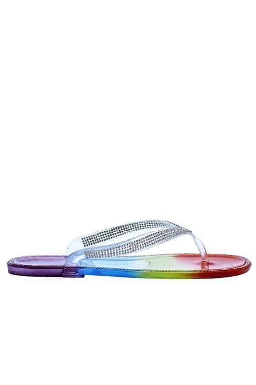 Feeling Lost Jelly Sandals Rainbow