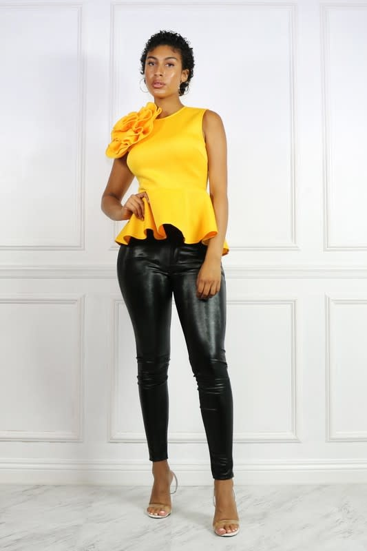 Knock Out Punch Peplum Top