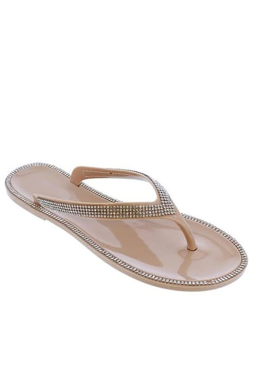 Feeling Lost Jelly Sandals Nude